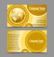 Globe theme business card vector image vector image
