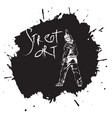 graffiti guy makes street art on wall vector image vector image