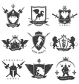 Heraldic Black White Labels vector image vector image