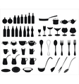 Icons of tableware and cutlery vector image