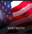 juneteenth freedom day african-american vector image