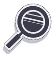 magnifying glass isolated icon vector image vector image