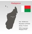 Maps of Madagascar with flag
