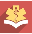 Medical Knowledge Flat Longshadow Square Icon vector image vector image