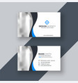 modern business card design with wavy shape vector image vector image