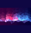 multicolored low poly background magic abstract vector image vector image
