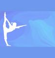 ocean yoga scene with dolphin vector image vector image