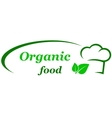 organic food sign vector image