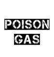 poison gas stamp on white vector image vector image