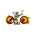 quote go ride a bike on bright colored vector image