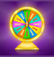 realistic retro gold wheel fortune or luck vector image vector image