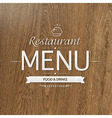 Retro Wood Restaurant Menu Design vector image