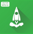 rocket icon business concept rocket launch vector image