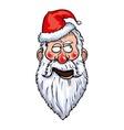 Santa Claus Flirting Head vector image vector image