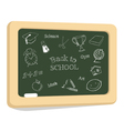 School icons on chalkboard vector image vector image
