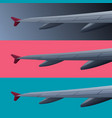 set color banners with airplane wing vector image