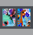 set of colorful artistic creative cards vector image vector image