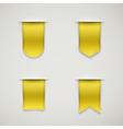 set of yellow ribbons vector image vector image