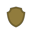 shield shape gold icon simple flat logo on white vector image