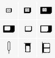 sim cards set vector image