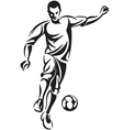 Soccer Football Player vector image vector image