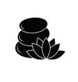 spa icon pebbles stone icon lotus icon vector image vector image