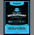 strong and bold blue recruitment poster or flyer vector image