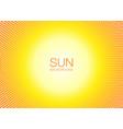 sun orange halftone circles horizontal background vector image