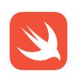 swift programming language emblem vector image vector image