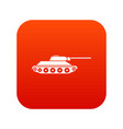 tank icon digital red vector image vector image