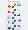 travel infographic numbered 10 positions vector image