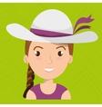 traveler woman tourist icon vector image