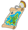 treasure map with pirate hook vector image