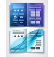 tri fold brochure template design or flyer layout vector image
