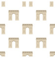 triumphal arch icon in cartoon style isolated on vector image