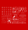 universal mega collection of christmas vector image vector image