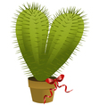 Valentine cactus vector image vector image