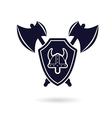 viking logo vector image