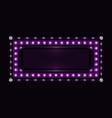 violet sparkling neon frame vector image vector image