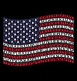 waving united states flag stylization of fir-tree vector image vector image