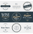 Wine drink labels set Brands design elements vector image vector image