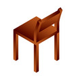 wood chair icon isometric style vector image
