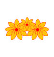 yellow flower logo vector image vector image