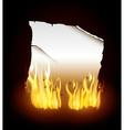 Fire digital design vector image