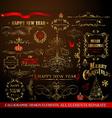 Christmas calligraphic elements vector image