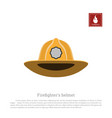 helmet of a firefighter on a white background vector image