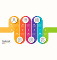 6 steps winding colorful timeline infographic vector image