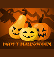 a set of pumpkin for halloween bringing to the vector image