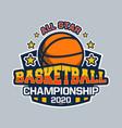 all star basketball championship 2020 vector image vector image