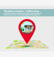 best location coffee shop vector image